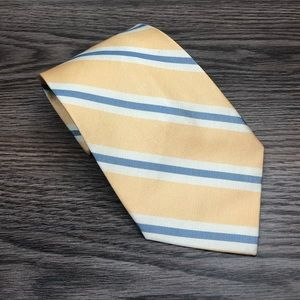 Tommy Bahama Yellow w/ Blue & White Stripe Tie